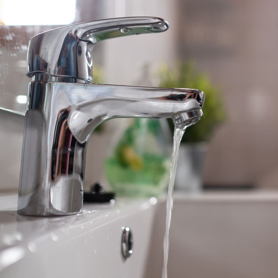 slow water from faucet