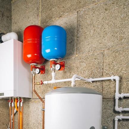 water heaters in basement
