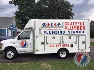 Company Truck for Grateful Plumber